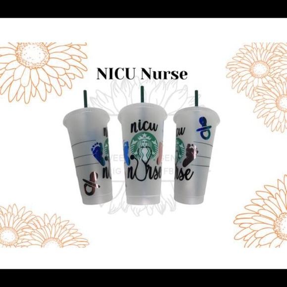 NICU nurse Custom Plastic Starbucks Cup